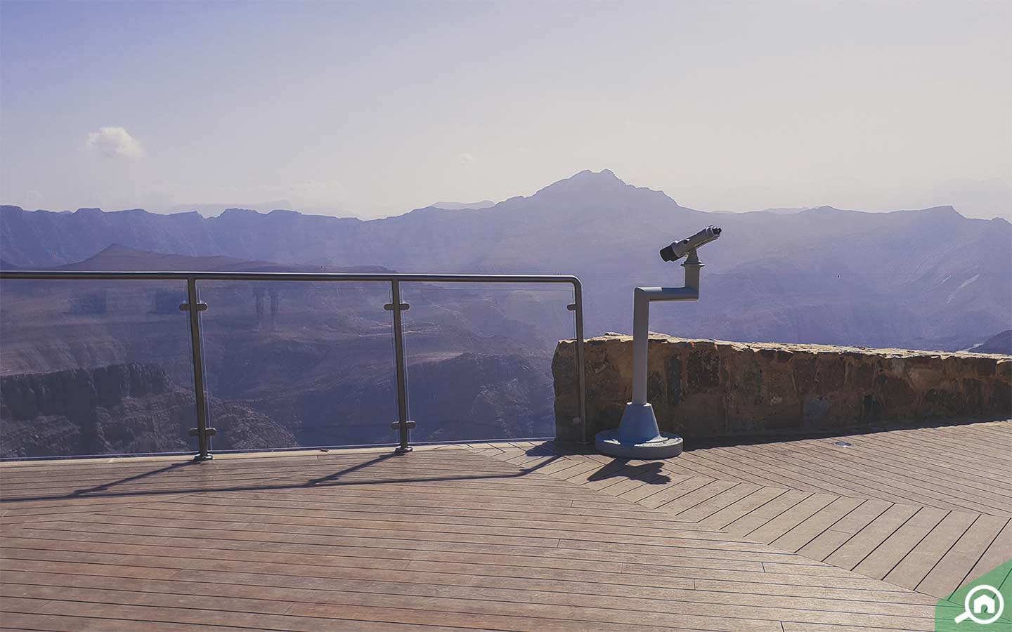 view from jebel jais viewing deck