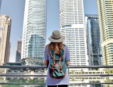 Female tourist visiting Dubai