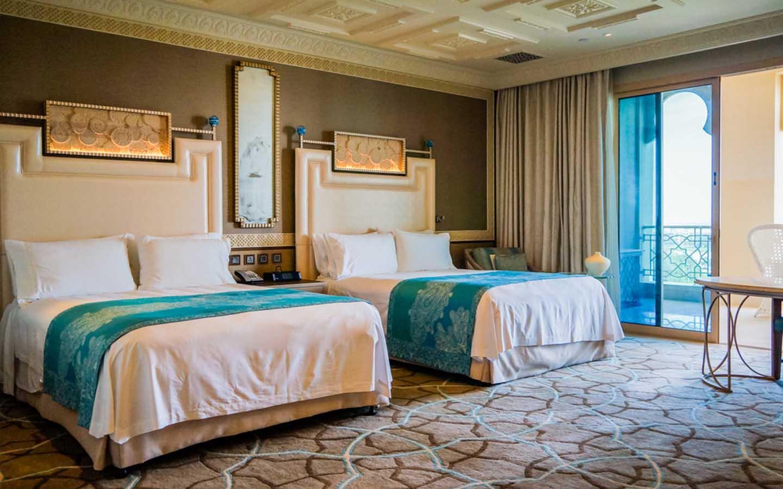 luxurious room at Waldorf Astoria