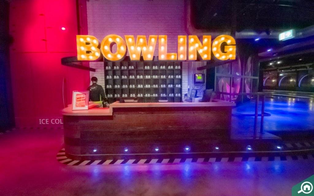 Bowling alley at Wavehouse Atlantis