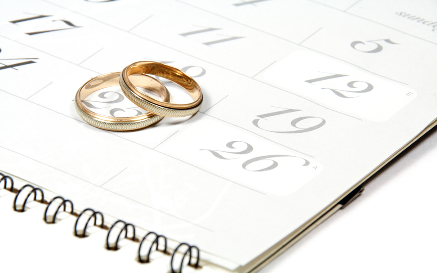 wedding ring on calendar