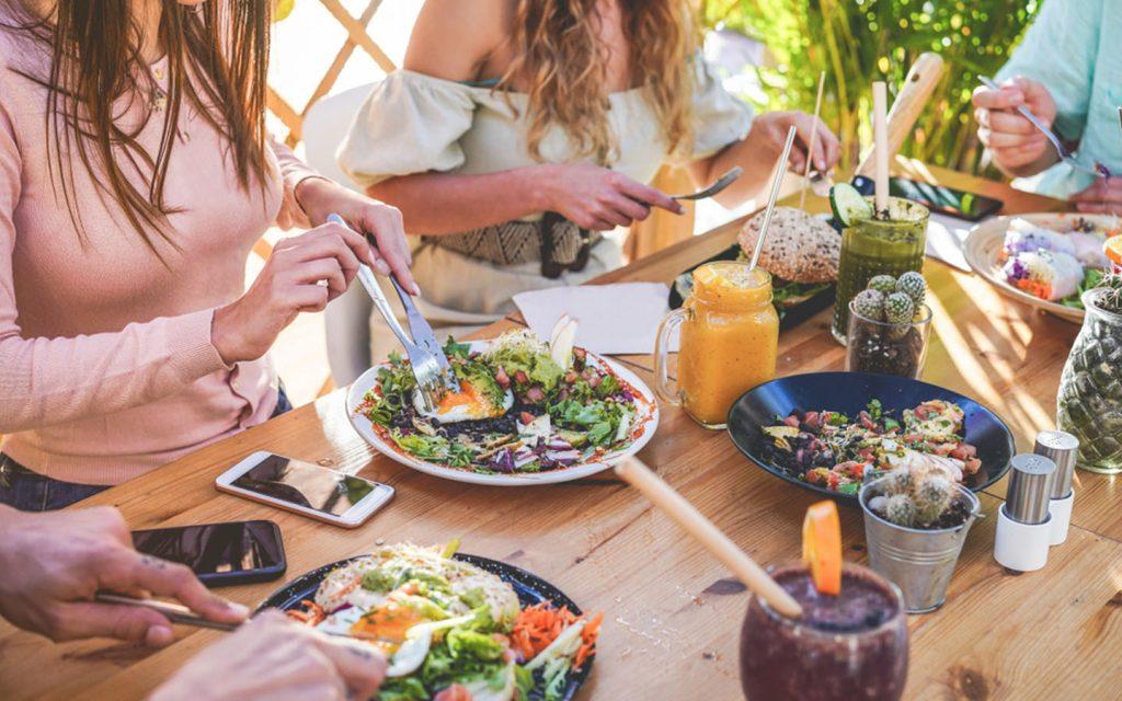 women enjoying brunch