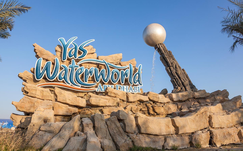 Yas Waterworld Abu Dhabi entrance