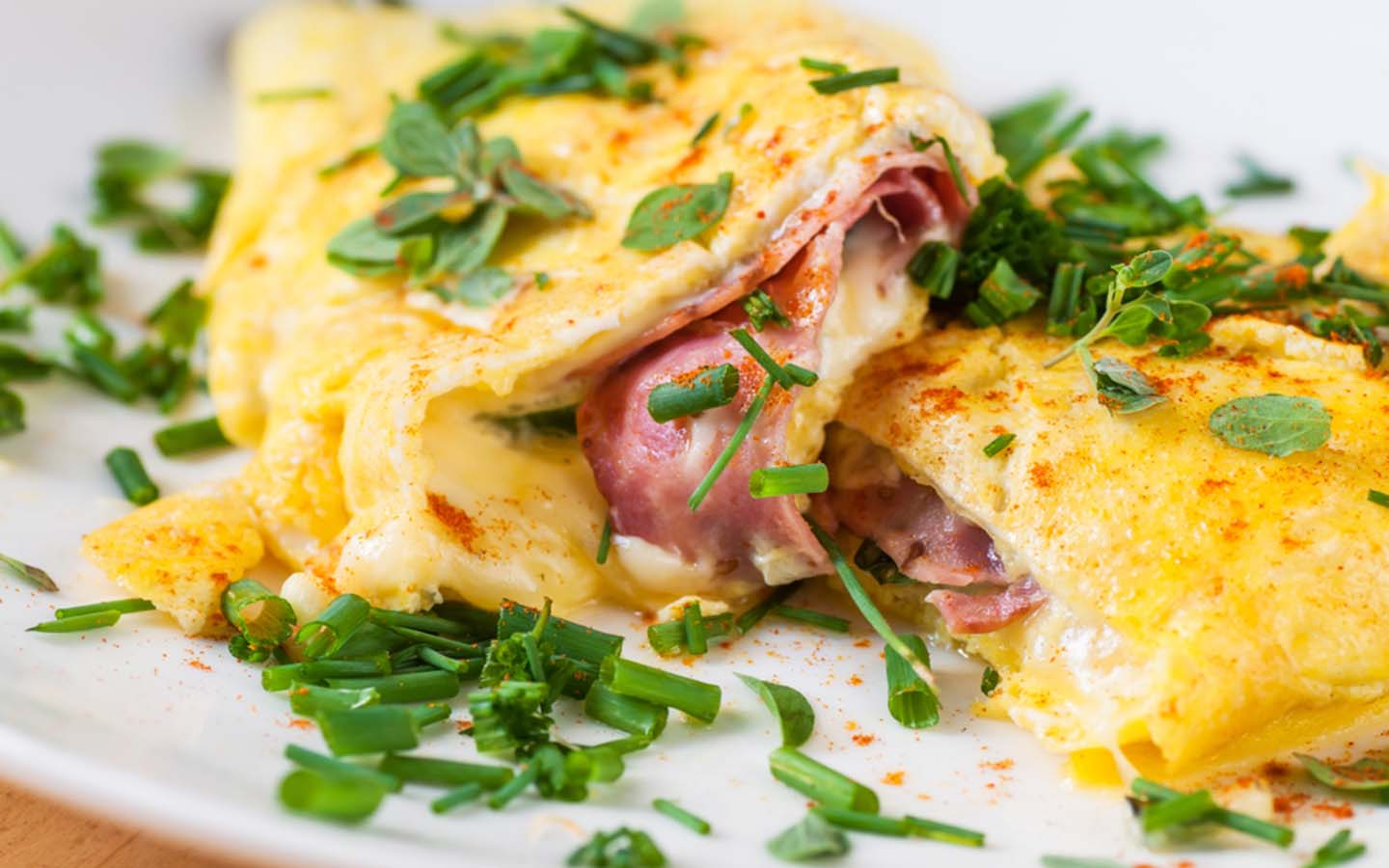 Cheese Omelette served with chives