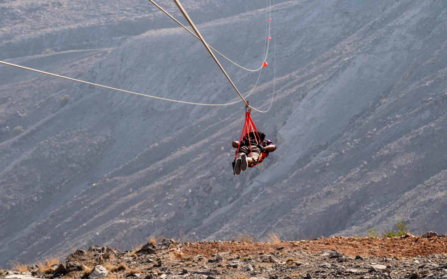 zipling in Jebel Jais